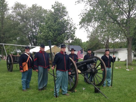 The tradition to shoot the cannons (into a safe area) is to honor those who gave their lives.